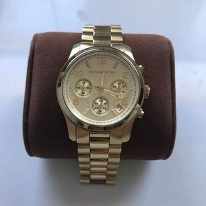 Michael Kors Runway Gold Tone Watch